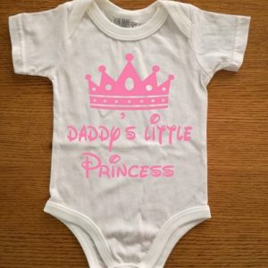 Daddy's little Princess Cotton baby grow