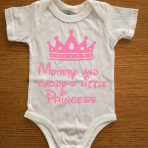 Mommy and Daddy's little princess cotton baby grow
