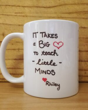 Custom printed teacher farewell coffee mug gift