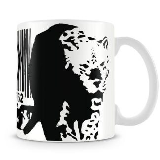Banksy Barcode Leopard coffee Mug