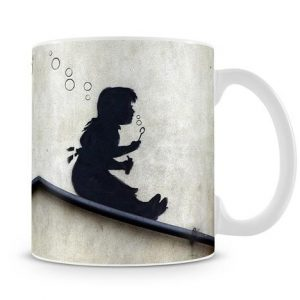 Banksy Bubble Slide Girl coffee Mug