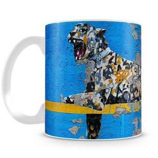 Banksy Cheetah coffee mug
