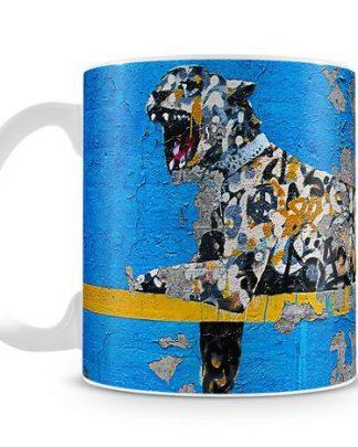 Banksy Cheetah coffee mug