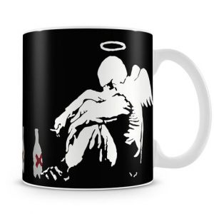 Banksy Fallen Angel coffee Mug