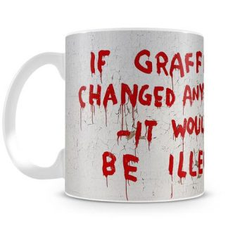 Banksy If Graffiti Changed coffee mug