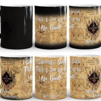 Harry Potter Marauders map magic mug