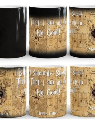 Harry Potter Marauders map magic mug