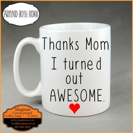Thanks mom coffee mug mothers day gift