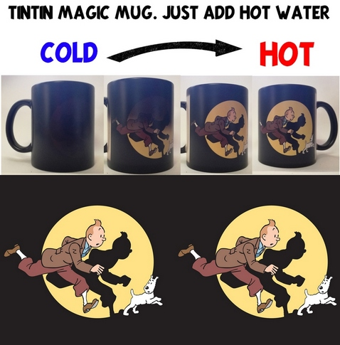 Tintin colour changing magic coffee mug