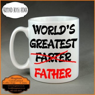 Worlds Greatest Farter fathers day coffee mug gift