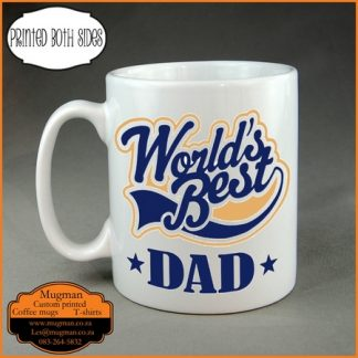 World's best dad coffee mug fancy logo