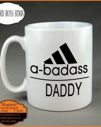 a badass daddy coffee mug