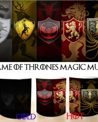 Game of thrones houses colour changing magic mug