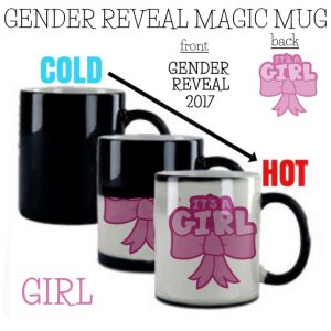 Gender reveal magic mug coffee cup it's a GIRL