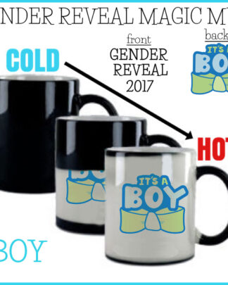 Gender reveal magic mug coffee cup it's a Boy