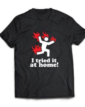 I tried it at home 100% 180g cotton tshirt