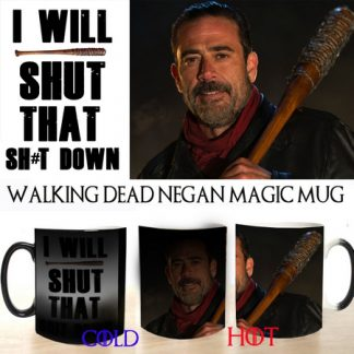 The walking dead negan colour changing magic mug