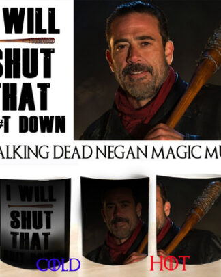 The walking dead negan colour changing magic mug