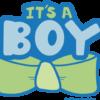 Its a boy Bow