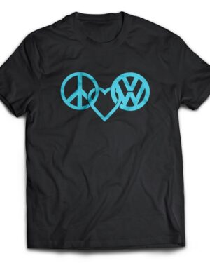 Peace love and VW Cotton T-shirt