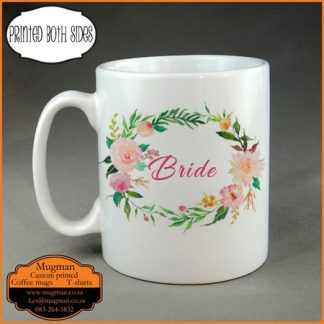 Bride custom printed wedding coffee mug