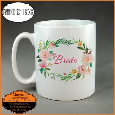 Bride custom printed wedding coffee mug