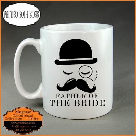 Father of the bride custom coffee mug