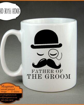 Father of the groom custom coffee mug