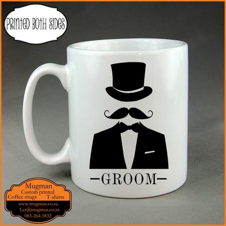 Groom custom printed coffee mug