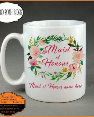 Maid of honour custom coffee mug