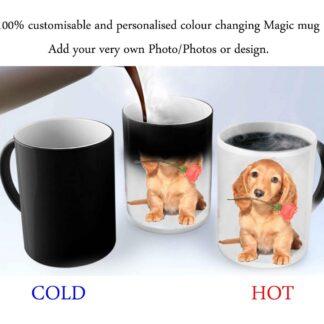Customisable personalised colour changing magic mug