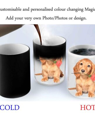 Customisable personalised colour changing magic mug