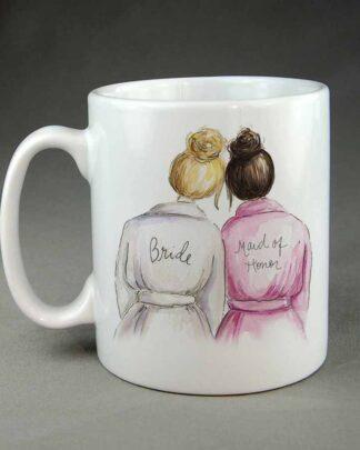 Bride and maid of honour coffee mug