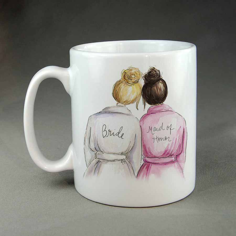 Bride And Maid Of Honour Coffee Mug Wedding Gift