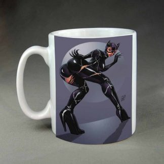 Cat Woman custom printed coffee mug