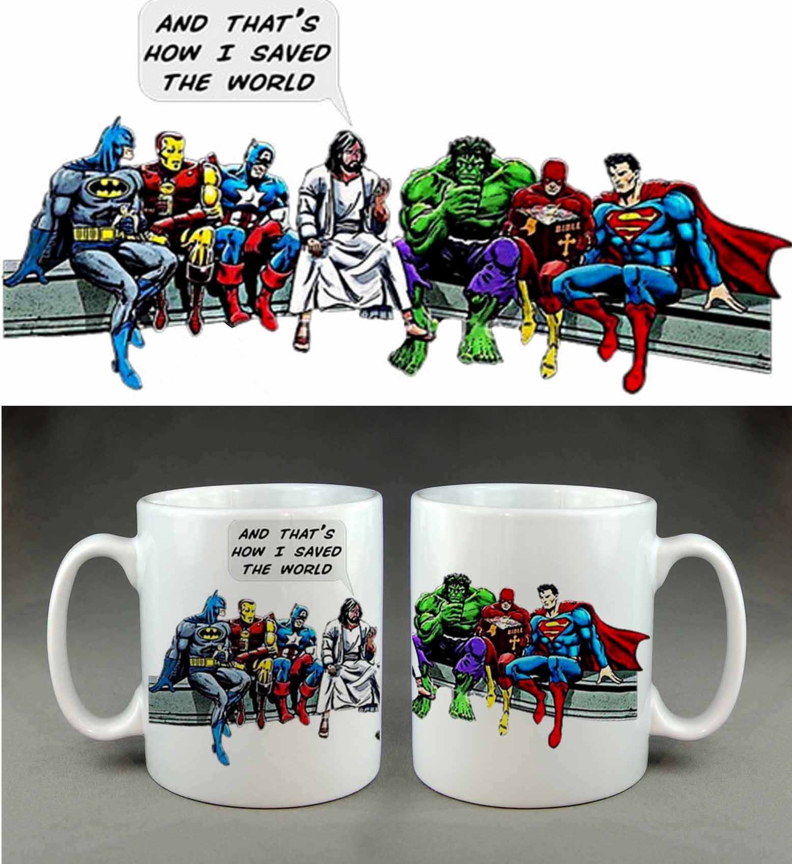 And thats how I saved the world super hero coffee mug
