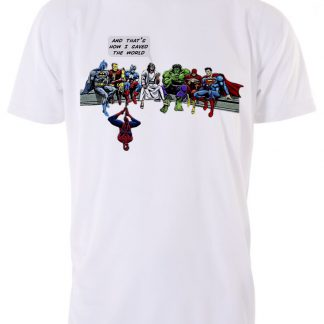And thats how I saved the world white T-shirt