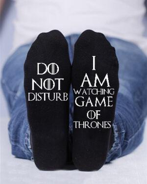 Do not disturb, I am watching game of thrones custom socks