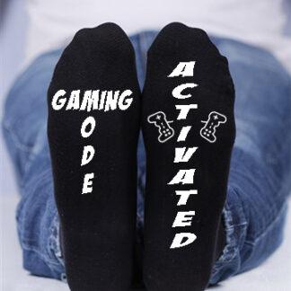 Gaming Mode activated, Custom printed socks