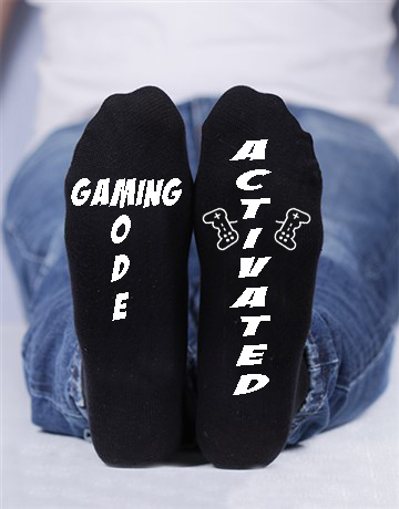 Gaming Mode activated, Custom printed socks