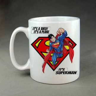 Its a bird its a plane superman coffee mug
