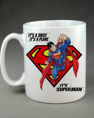 Its a bird its a plane superman coffee mug