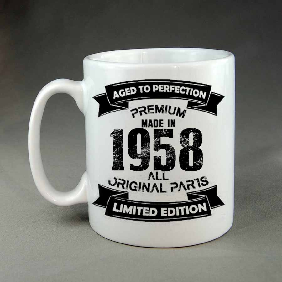 Made in 1958 aged to perfection coffee mug