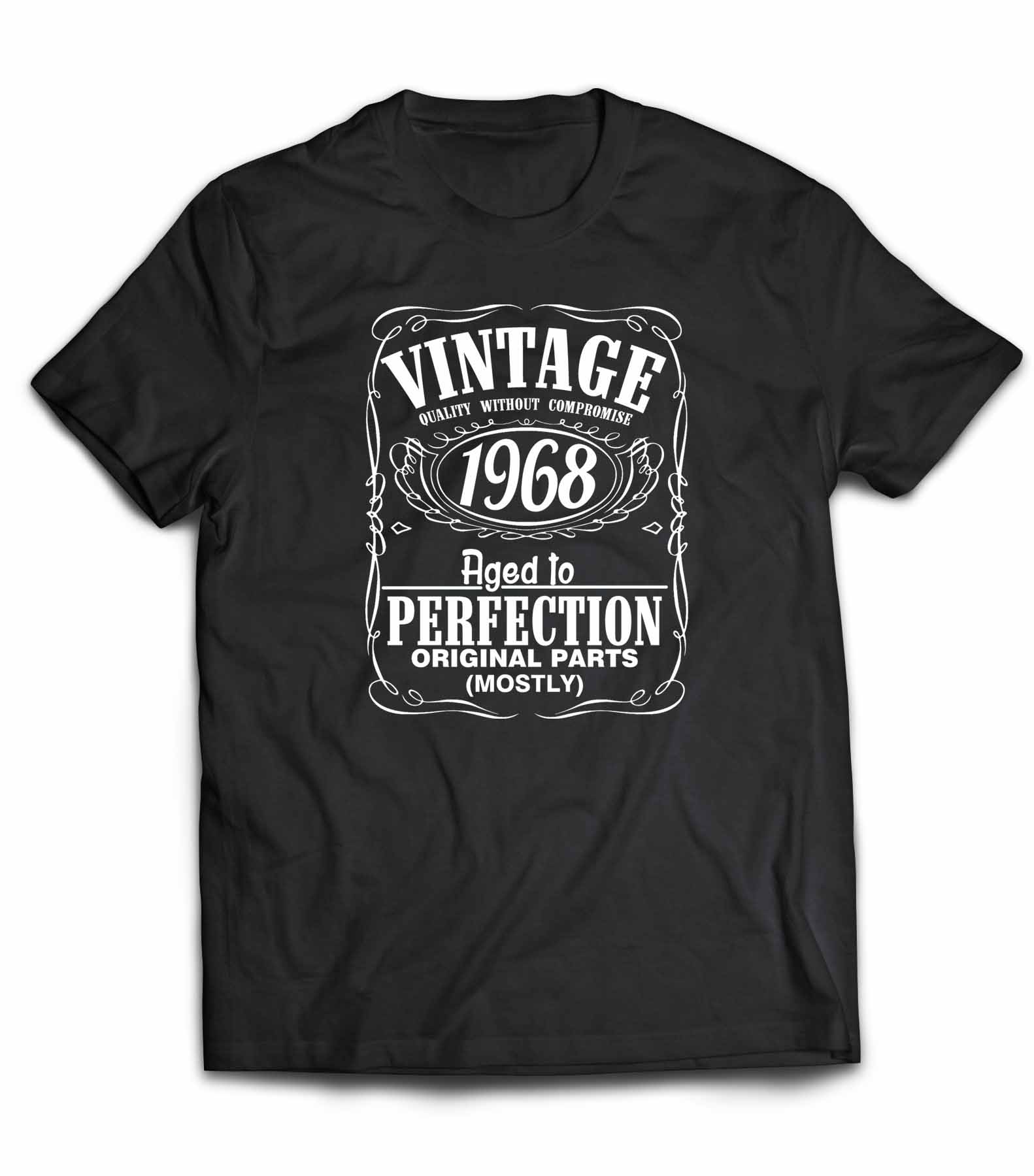 Vintage 1968 Aged To Perfection 50th Birthday Cotton T Shirt