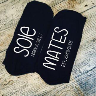 sole mates custom black socks