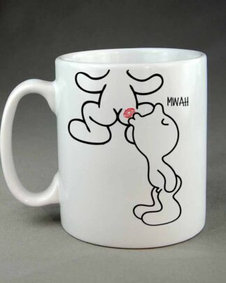 Ass kisser custom coffee mug