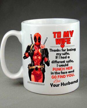Deadpool To my wife custom coffee mug