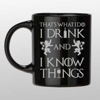 Thats what I do custom black and silver mug