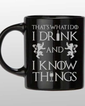 Thats what I do custom black and silver mug