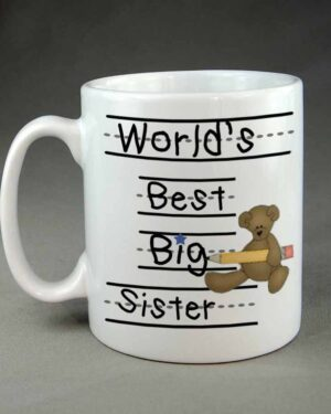 Worlds best big Sister Custom Coffee mug